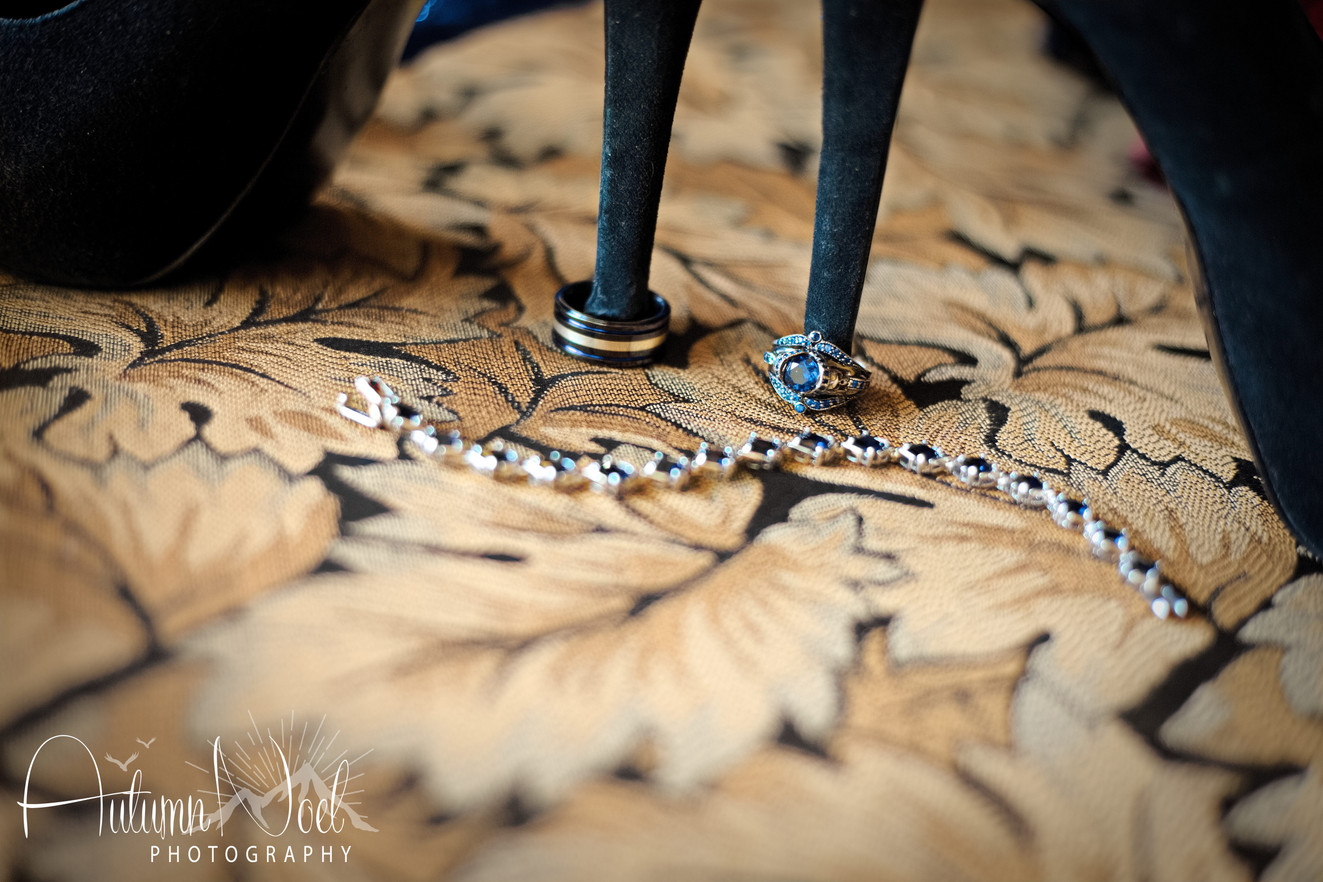 black heels blue wedding ring