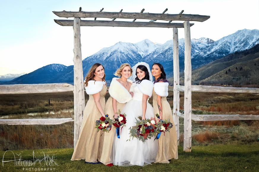 winter wedding bridal party genoa
