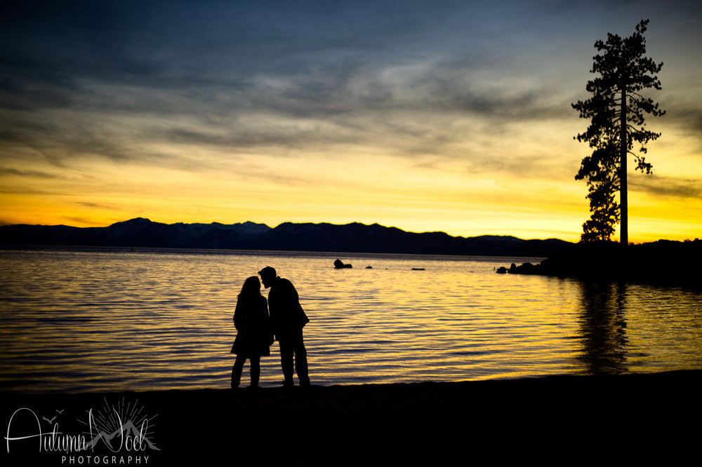 sunset sand harbor silhouette