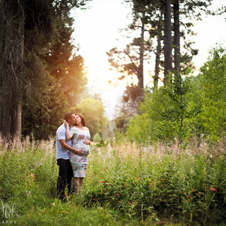 Tahoe Forest Maternity photography at Sunset
