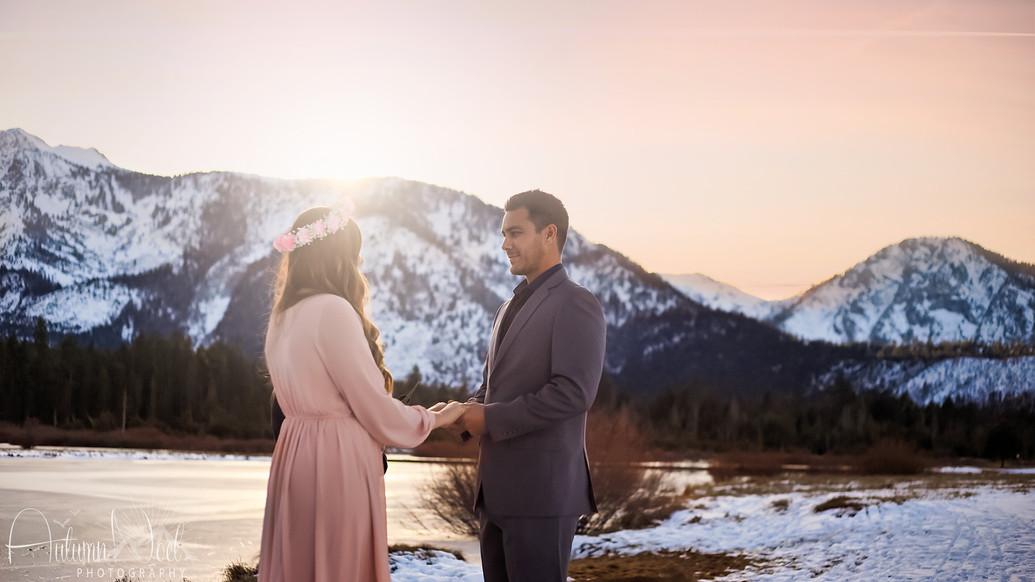 winter elopement tahoe