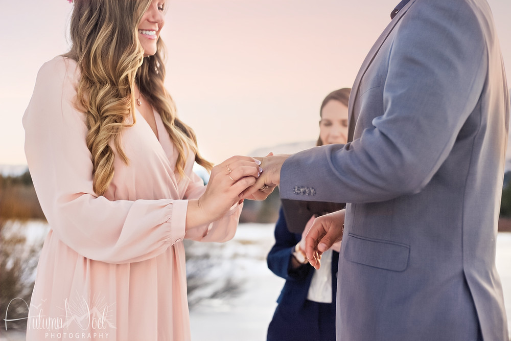 with this ring elopement ceremony tahoe