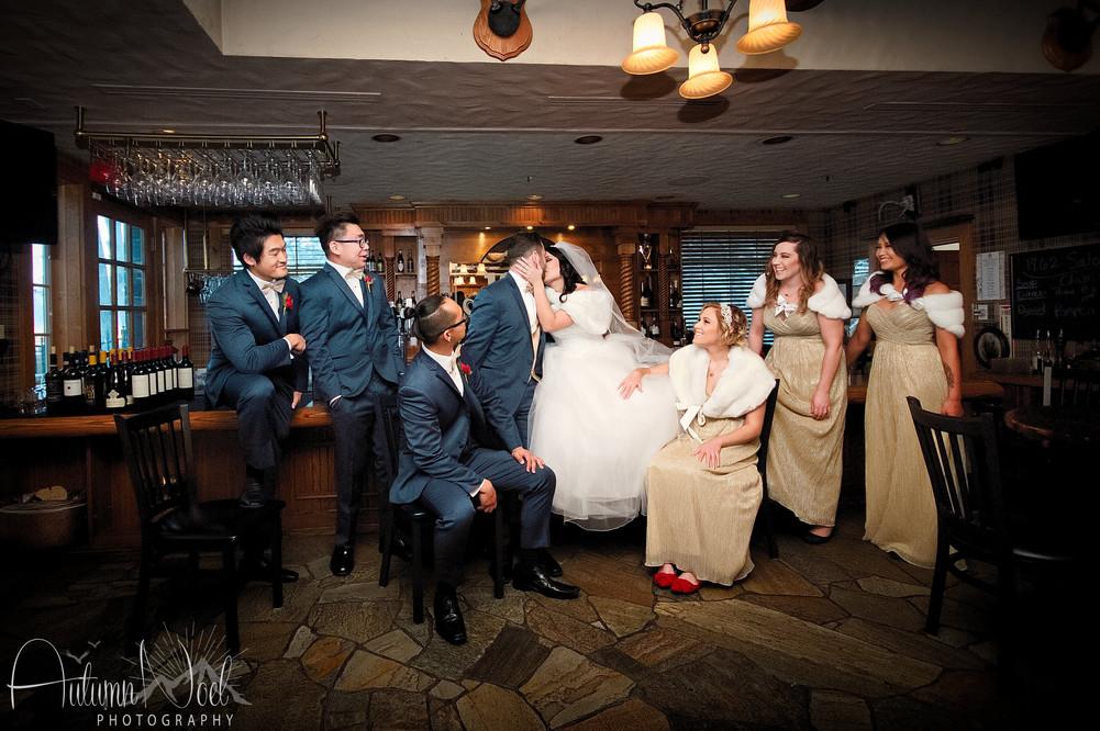 bridal party bar photo
