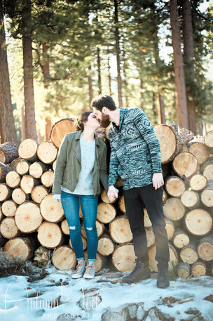 forest themed engagement session