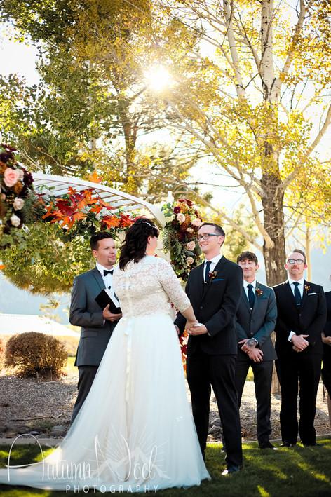genoa lakes wedding ceremony