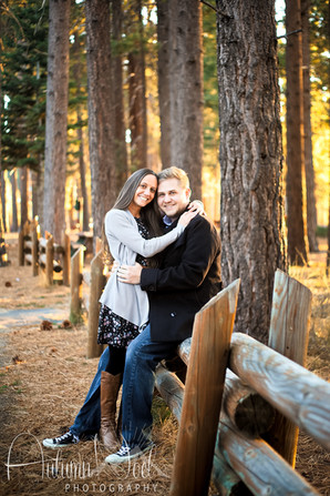 couple in forest posing