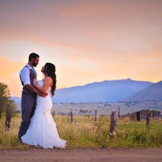 carson valley sunset wedding