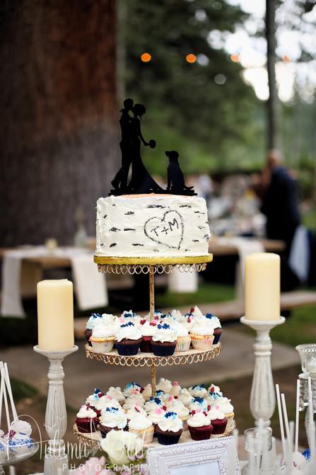 wedding cake topper lake tahoe
