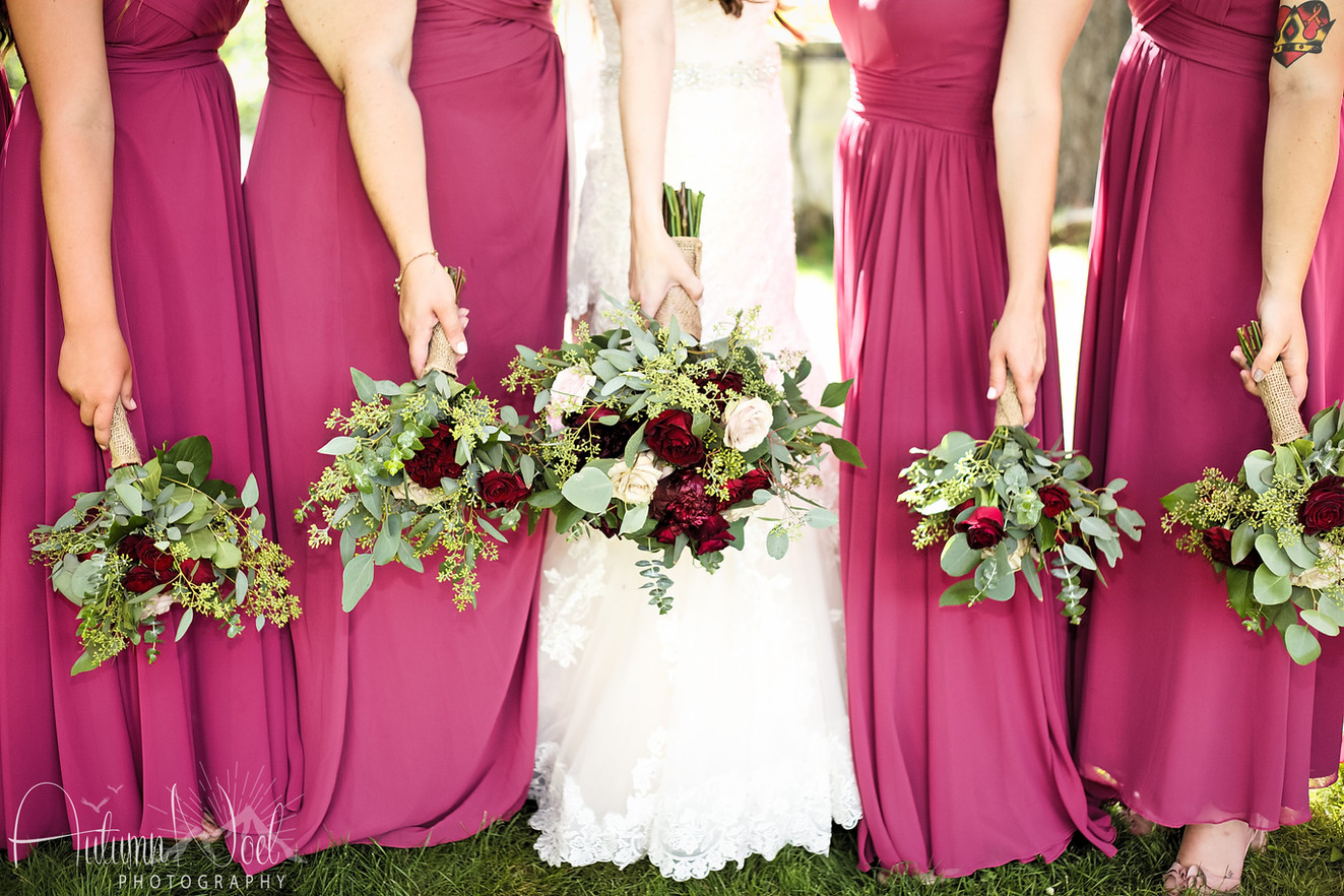 bouquets lake tahoe wedding