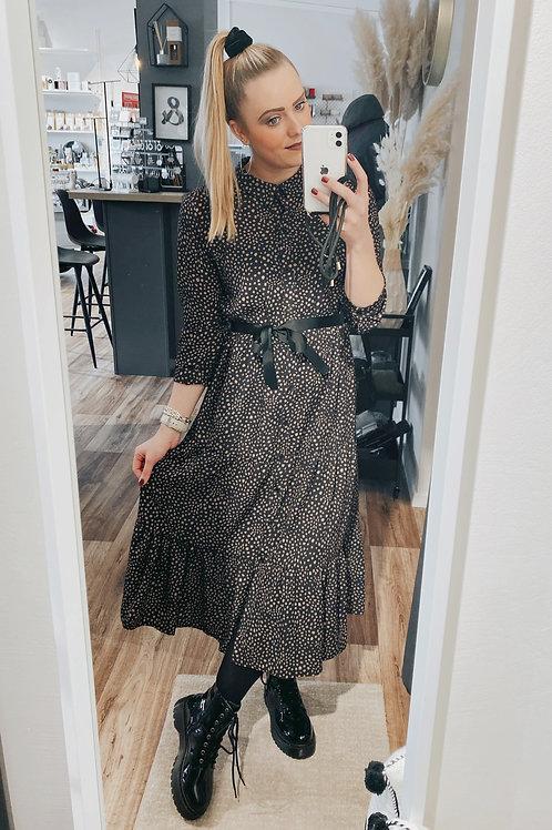 Kleid Polly beige-schwarz