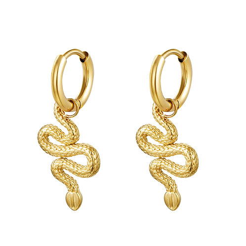Ohrringe Shiny Serpent gold