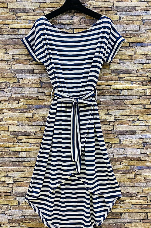 T-Shirt Kleid Stripes dark blue