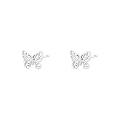 Ohrstecker little Butterfly silber