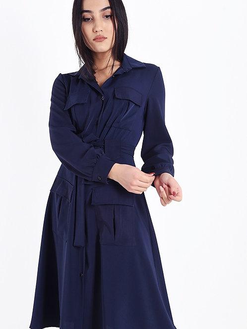 Blusenkleid Blau