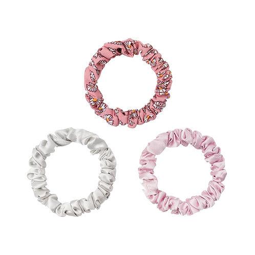 Mini Scrunchie Set Spring rosa
