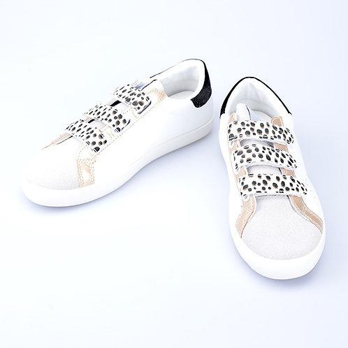 Sneaker Leo gold-white