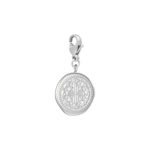Charm Anhänger Cross Coin