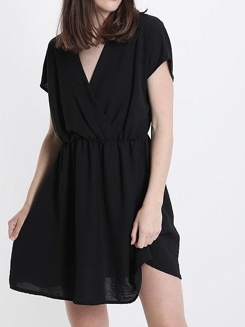 Kleid mit V-Ausschnitt black