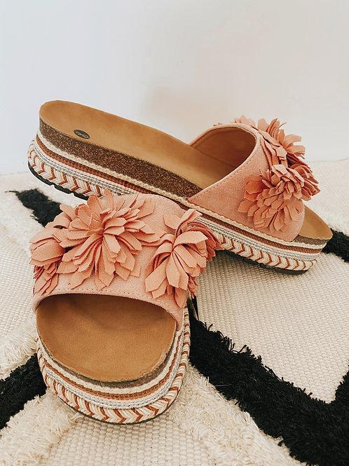 Pantolette Flowers rosa