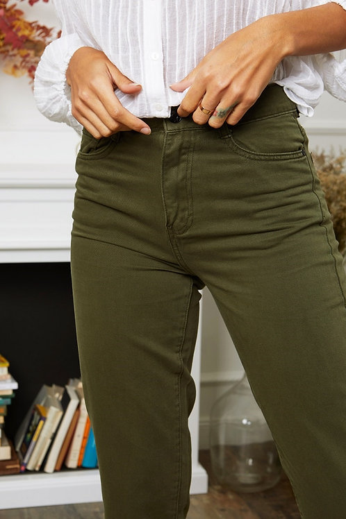 MOM Jeans Olive