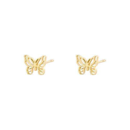 Ohrstecker little Butterfly gold