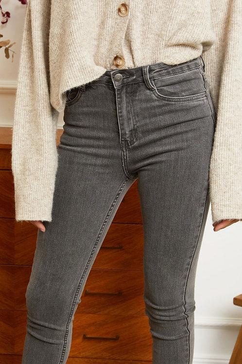 Skinny Jeans Mila grau
