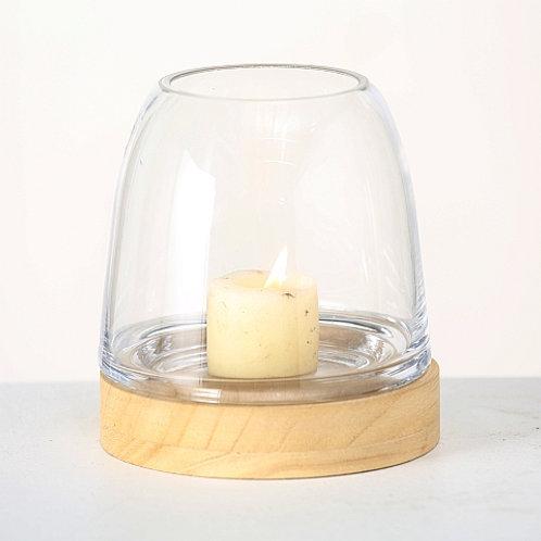 Kerzenglas Wood
