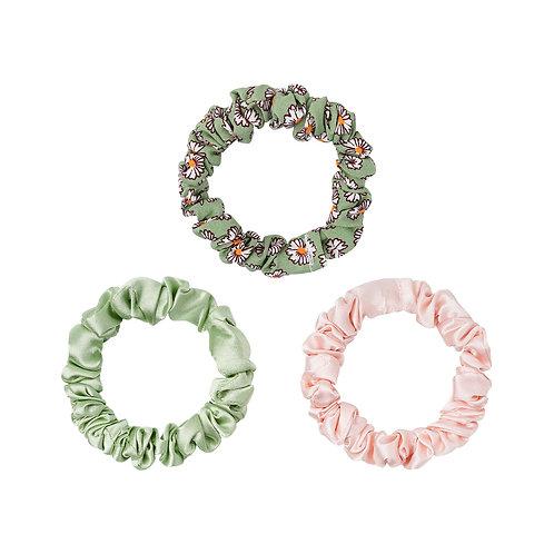 Mini Scrunchie Set Spring green