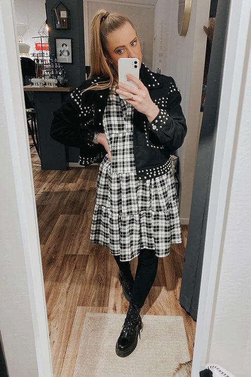 Kleid black Karo