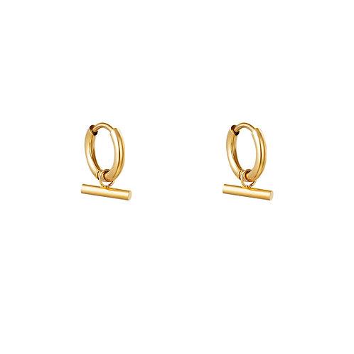 Ohrringe Bar gold