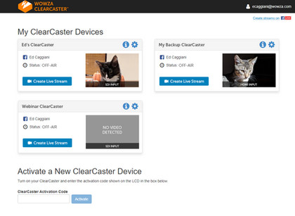 Wowza ClearCaster Remote Admin UX