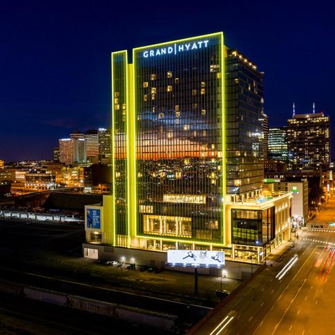Hyatt Hotel in Nashville Drone photo