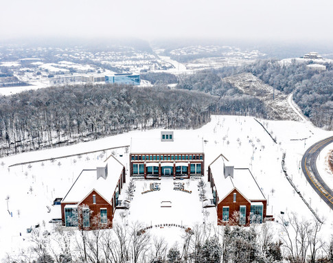 Columbia State Community college in snow