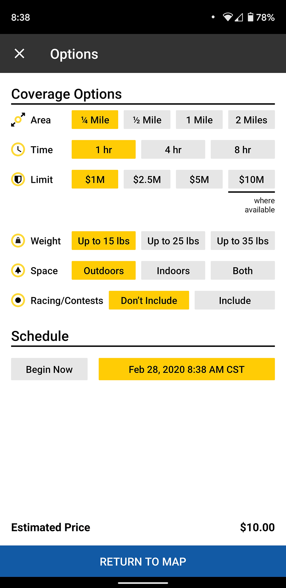 Verifly drone insurance App prices and coverage options
