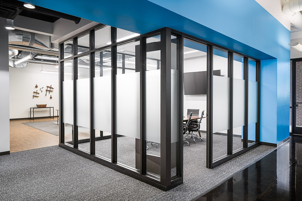 Glass Conference Room in modern office space