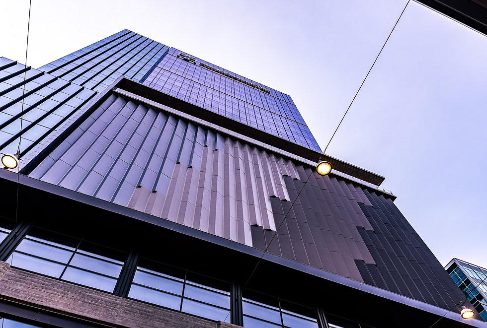 A Skyscraper at twilight