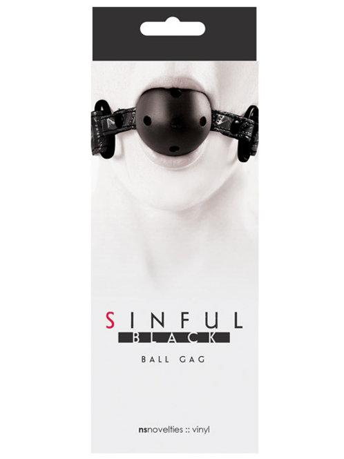 Sinful Ball Gag - Black