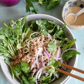 Soba Salad with Miso Tahini Dressing