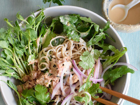 Soba Salad with Miso Tahini Dressing