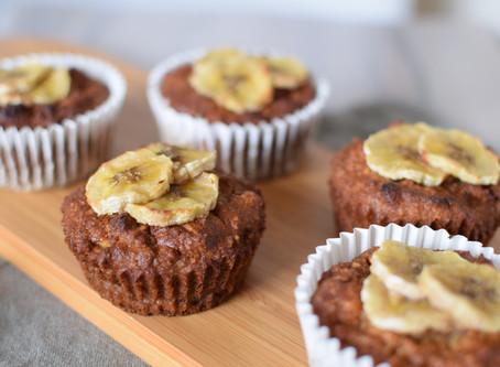Sesame Flour with Banana & Coconut Muffins (Vegan & Gluten-free)