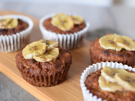 Sesame Flour with Banana & Coconut Muffins (Vegan & Gluten-free)