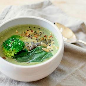 Broccoli and Spinach Creamy Miso Soup (Vegan, Gluten-free)