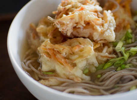 Kakiage (Mix Vegetable Tempura) Soba Noodle Soup