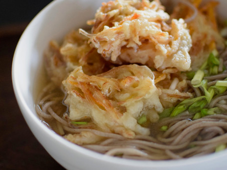Kakiage (Mix Vegetable Tempura) Soba Noodle Soup