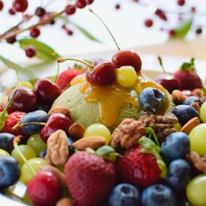 Tahini, Banana & Mulberry Matcha Semifreddo (Vegan, No Refined Sugar Added, Caffeine-free)