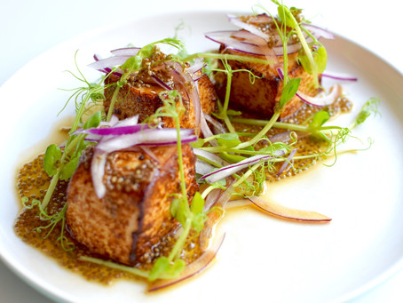 Tofu Steak & Chia Dressing