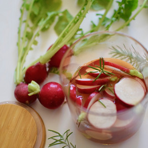 Quick Pickled Radish with Brown Rice Vinegar