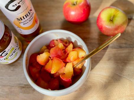 Yuzu Stewed Apples (Refined Sugar-free)