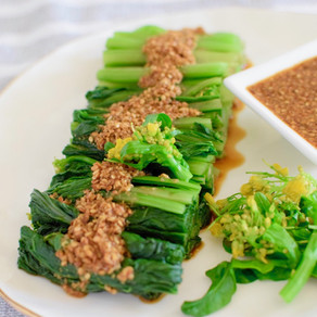 Tamari Vinegar & Sesame Sauce with Blanched Choy Sum