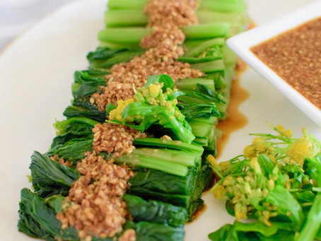 Tamari Vinegar & Sesame Sauce with Blanched Choy Sum
